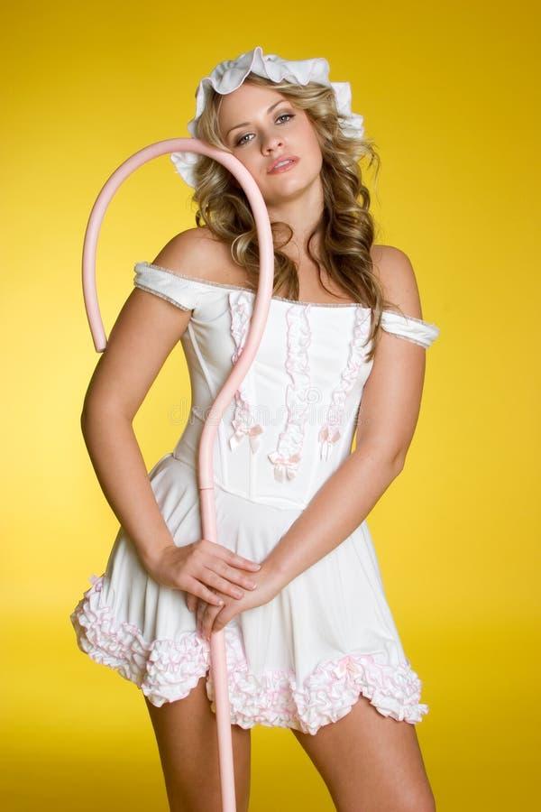 服装性感的万圣节 库存图片