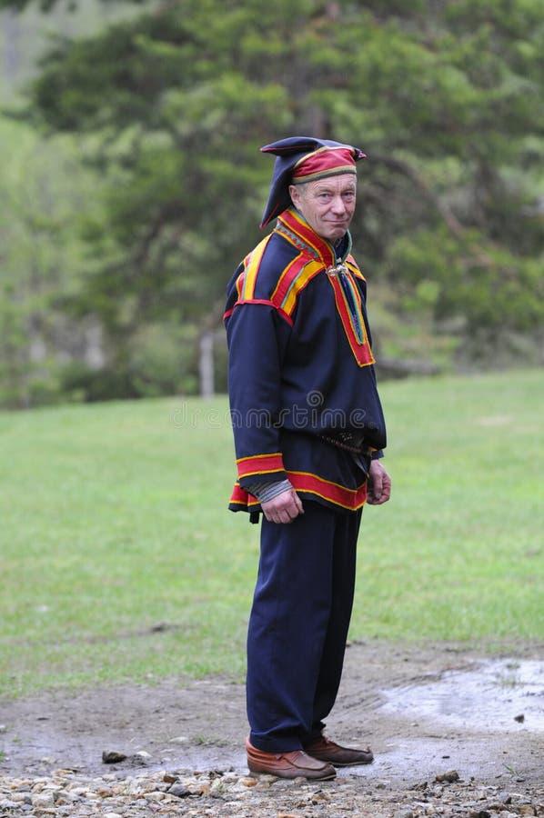 服装文化传统人的sami 免版税库存图片