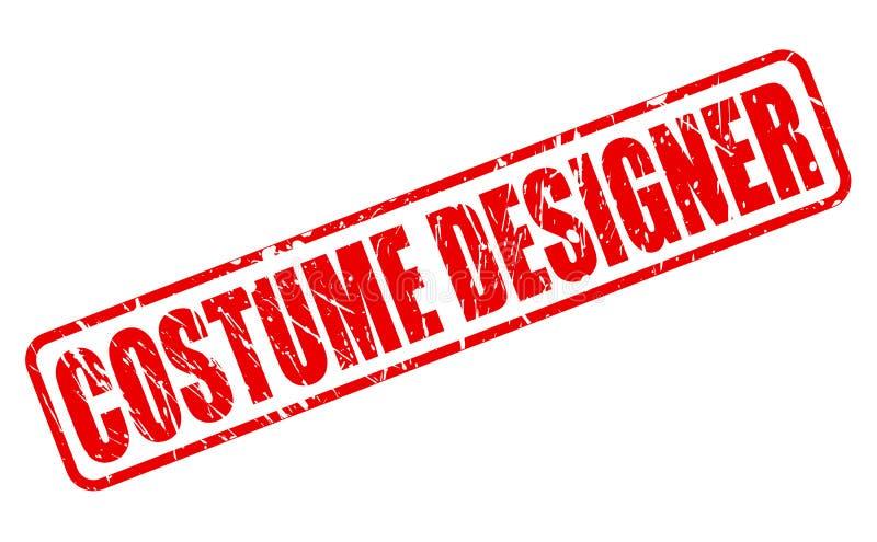 服装设计师红色邮票文本 库存例证