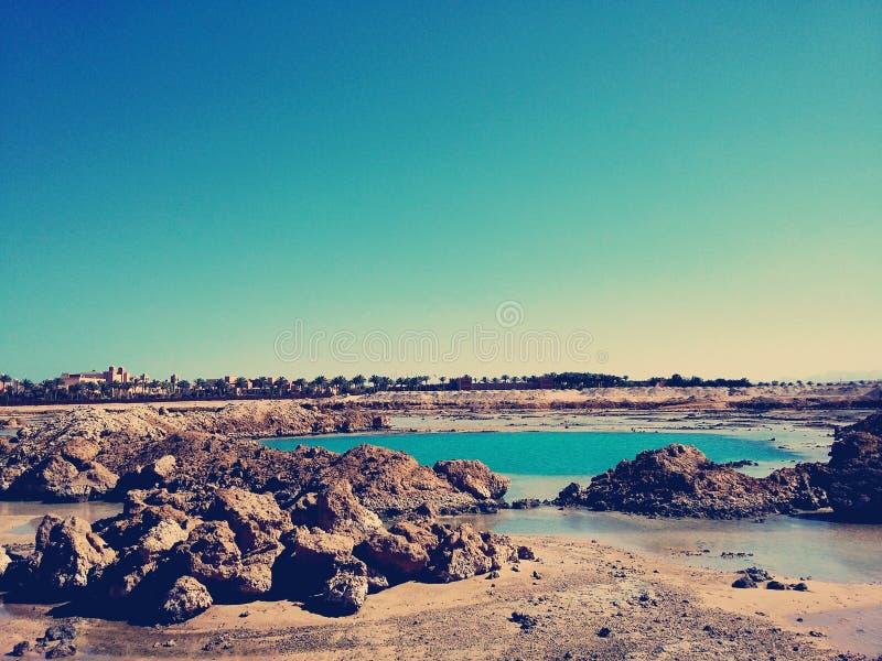 晴朗埃及的自然 免版税库存照片
