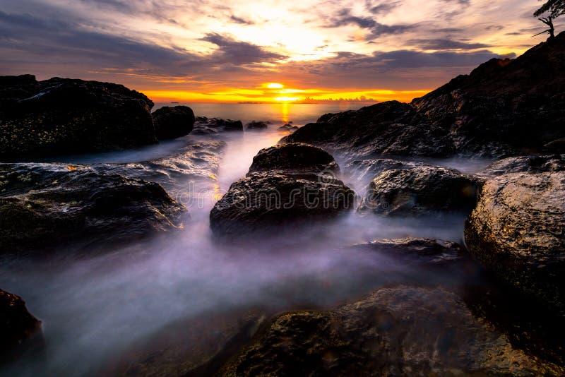 朗塔海岛,甲米府,泰国海景  库存照片