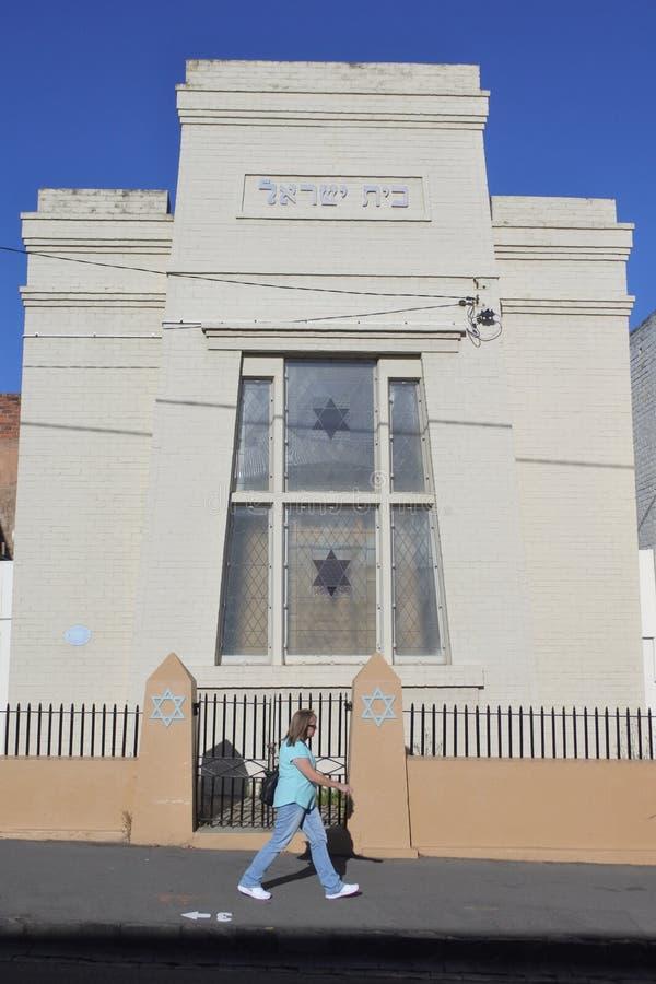 朗塞斯顿犹太教堂在朗塞斯顿塔斯马尼亚澳大利亚 免版税图库摄影