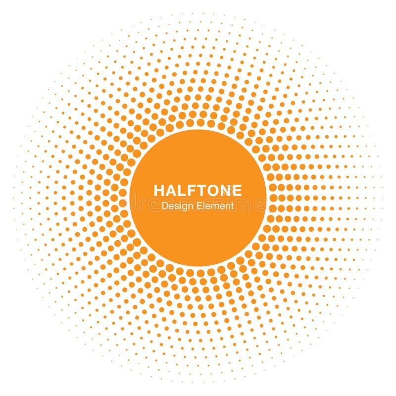 晴朗的圈子半音商标设计元素 太阳传染媒介象 库存例证