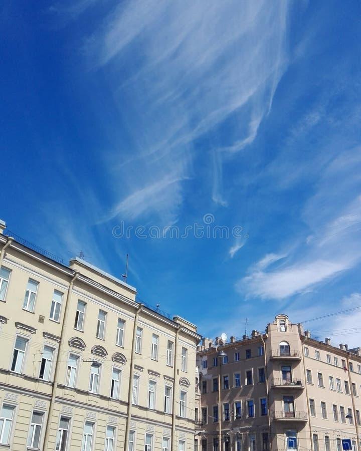 晴朗的圣彼得堡 免版税库存照片