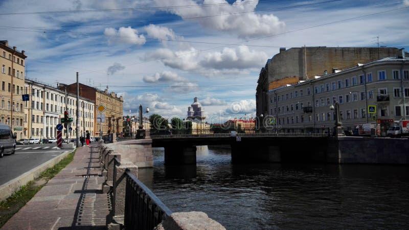 晴朗的圣彼得堡 库存图片