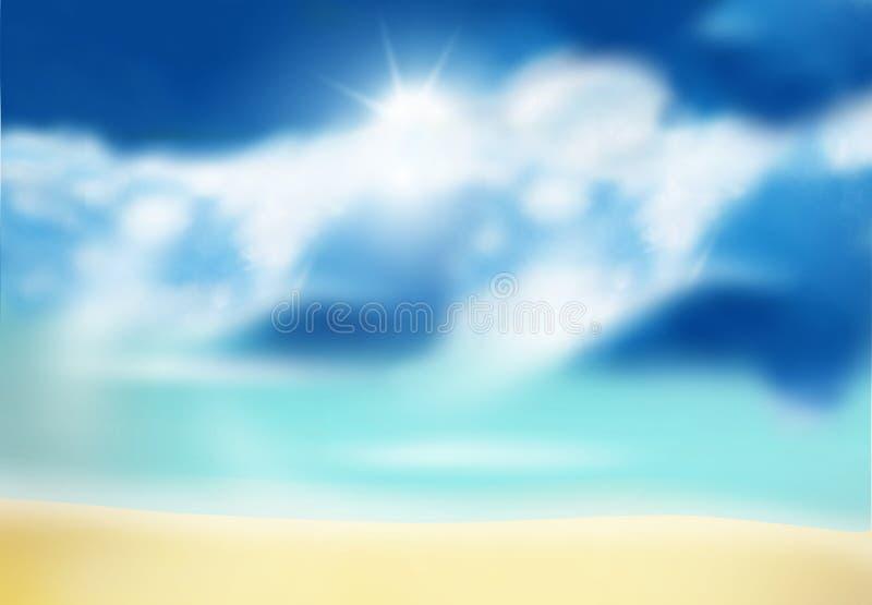 晴朗的海滩 库存例证