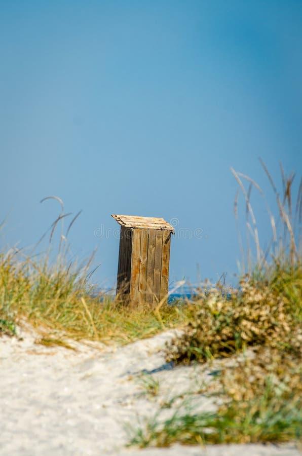 晴朗的海滩Kinburn唾液 免版税图库摄影