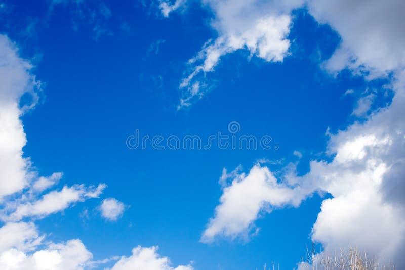 晴朗的蓝天 图库摄影
