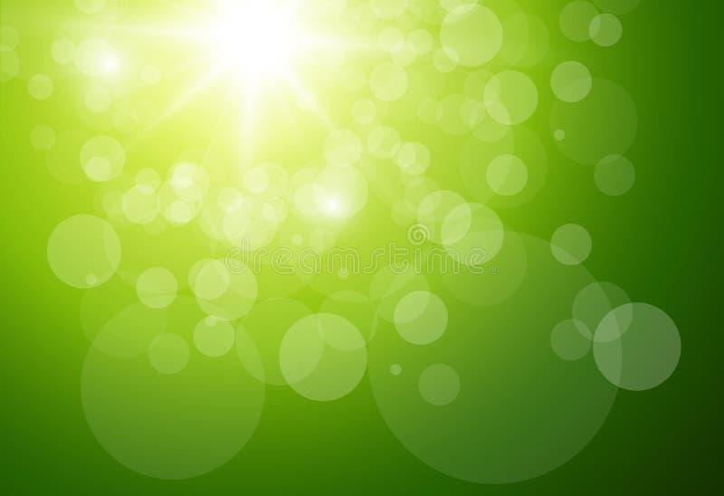 晴朗的绿色背景 库存例证