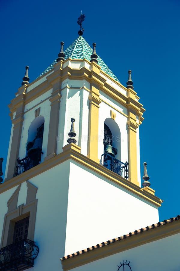 朗达,安达卢西亚,西班牙:广场台尔索乔尔罗教会 免版税库存图片