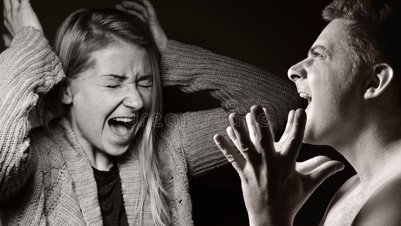 绝望人,呼喊和发怒 图库摄影
