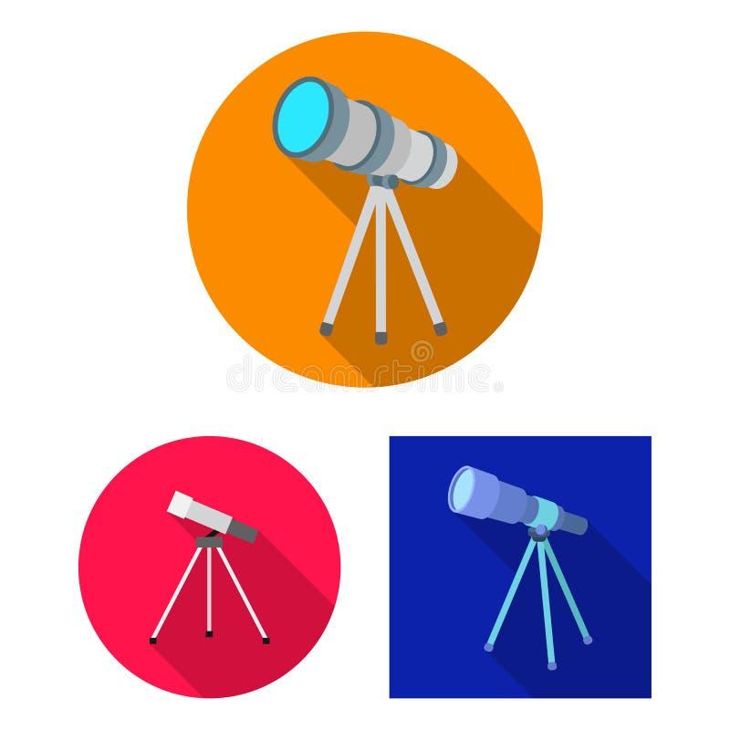 望远镜的传染媒介例证和双筒望远镜签字 望远镜的汇集和历史股票的传染媒介象 库存例证