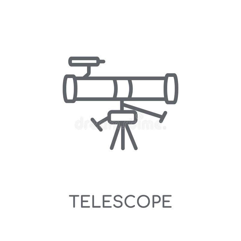 望远镜线性象 现代概述望远镜商标概念 向量例证