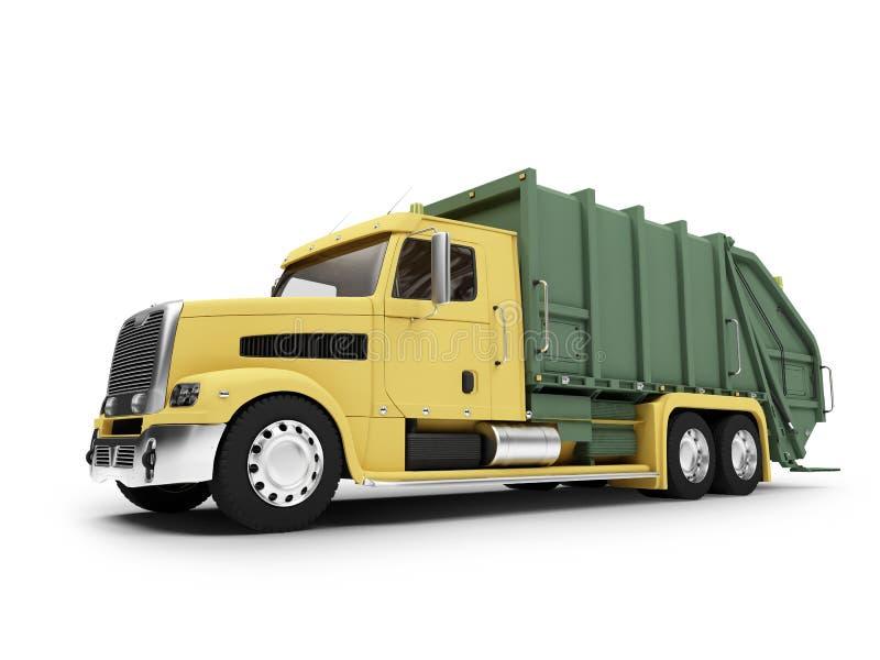 朝向查出的trashcar视图 向量例证