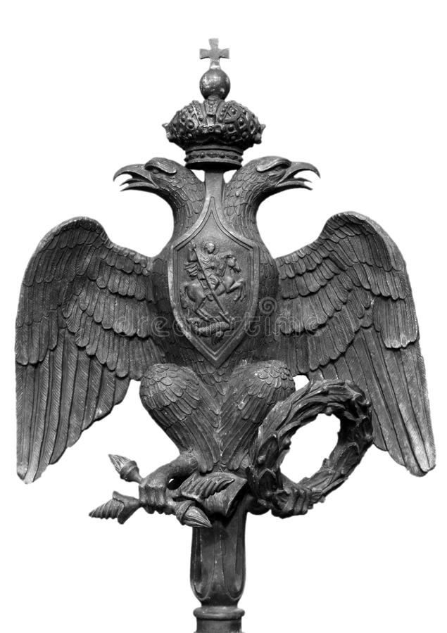 朝向的双老鹰 免版税库存照片