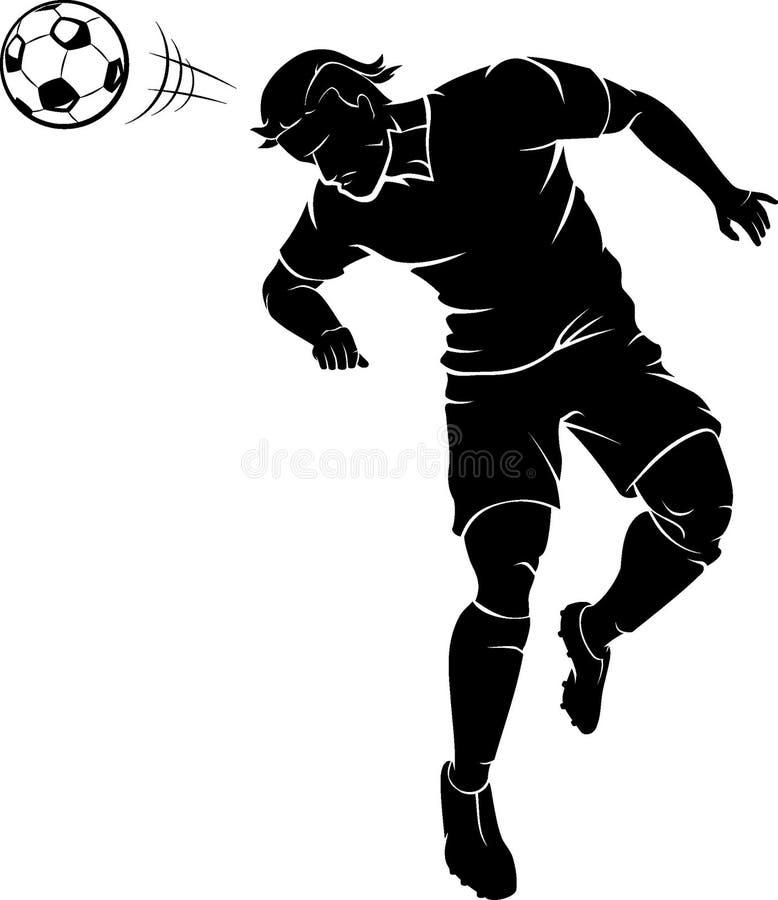 朝向跳动的足球 向量例证