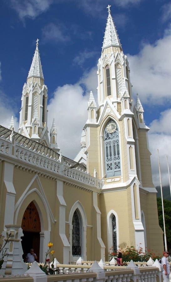 朝圣Church Santuario de la Virgen,玛格丽塔岛 免版税库存照片