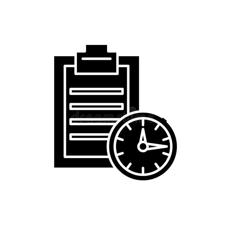 期限黑色象,在被隔绝的背景的传染媒介标志 期限概念标志,例证 皇族释放例证