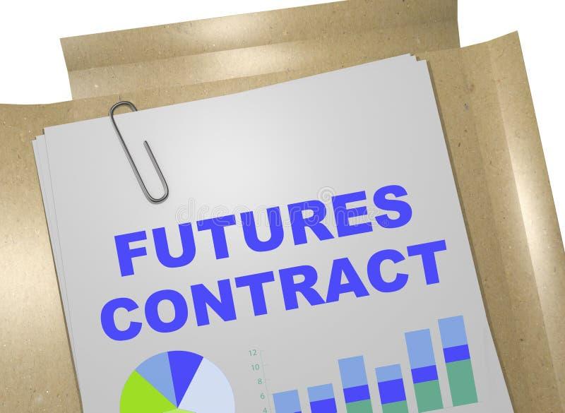 期货合约-企业概念 向量例证