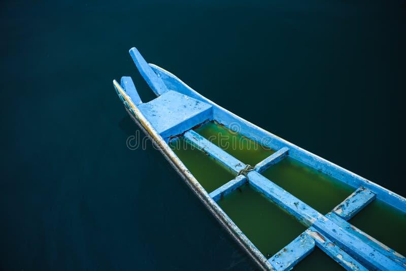 木中国渔船 库存照片