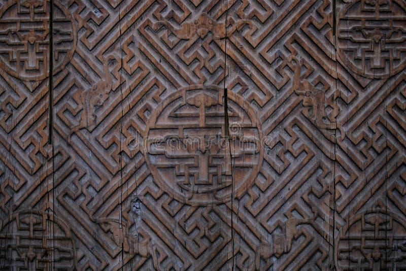 木中国的门 库存图片