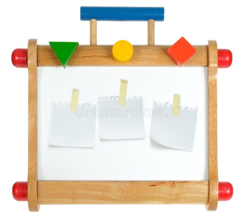 木五颜六色的whiteboard 免版税库存图片