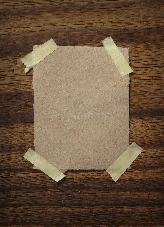 木便条纸的墙壁 图库摄影