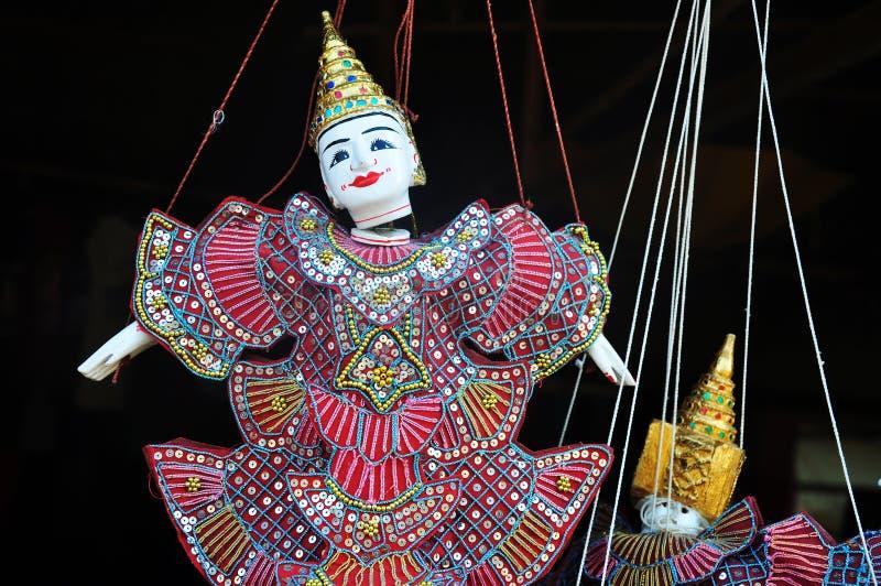 木偶玩具在柬埔寨 免版税图库摄影