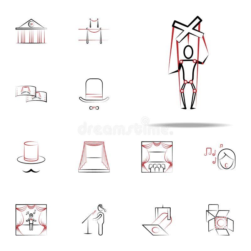 木偶象 网和机动性的handdraw象全集 库存例证