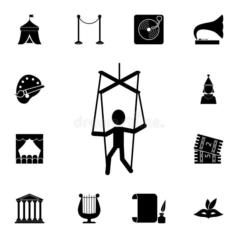 木偶象 详细的套剧院象 优质图形设计 其中一个网站的汇集象,网络设计,流动 皇族释放例证