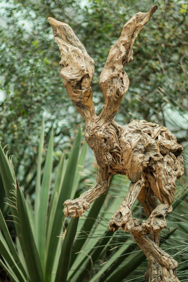木兔子雕塑在滨海湾公园,新加坡 库存图片