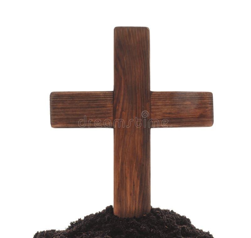 木公墓十字架 免版税库存照片