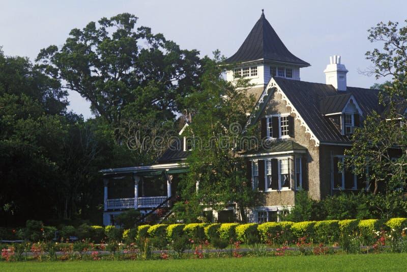 木兰种植园和庭院,最旧的公园在美国,查尔斯顿, SC 免版税库存图片