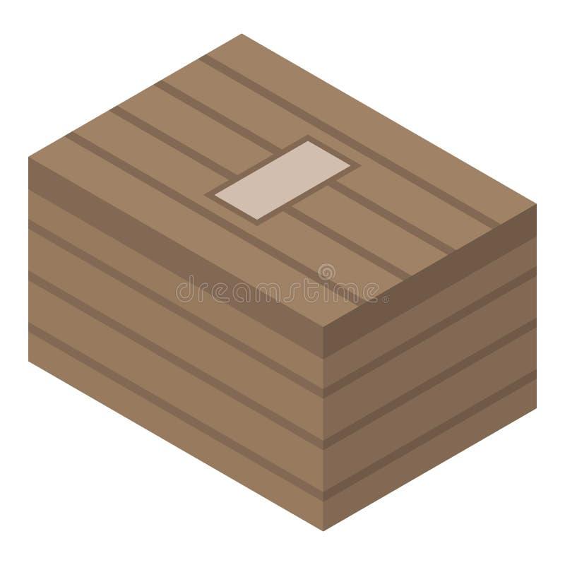 木军队箱子象,等量样式 向量例证