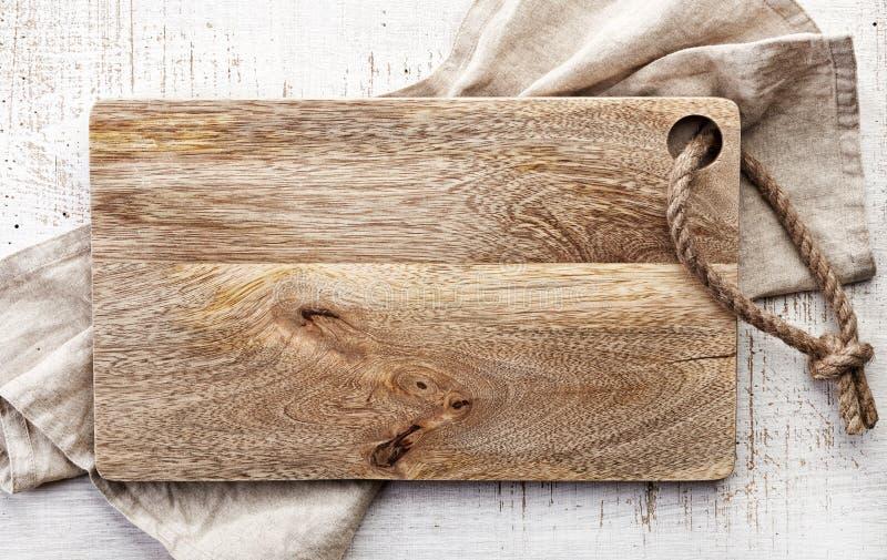 木切板顶视图  免版税库存图片