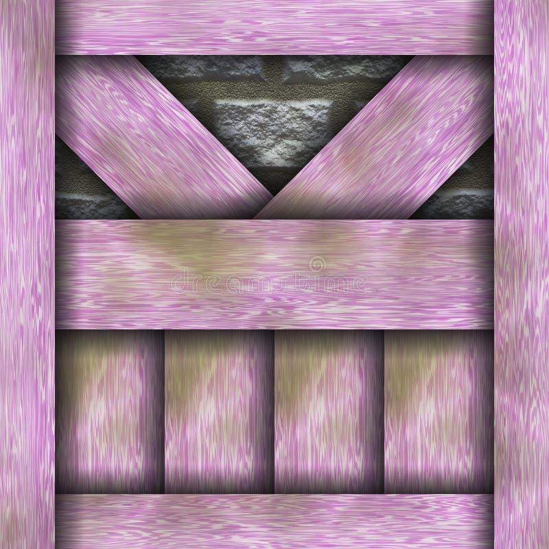 木制框架瑞士山中的牧人小屋建筑元素 皇族释放例证