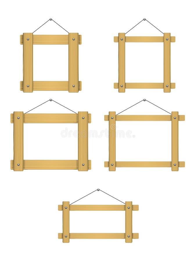 木制框架 皇族释放例证