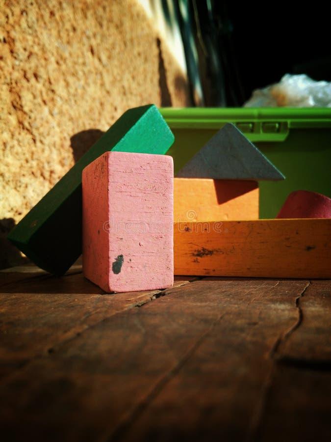 木刻玩具 库存照片