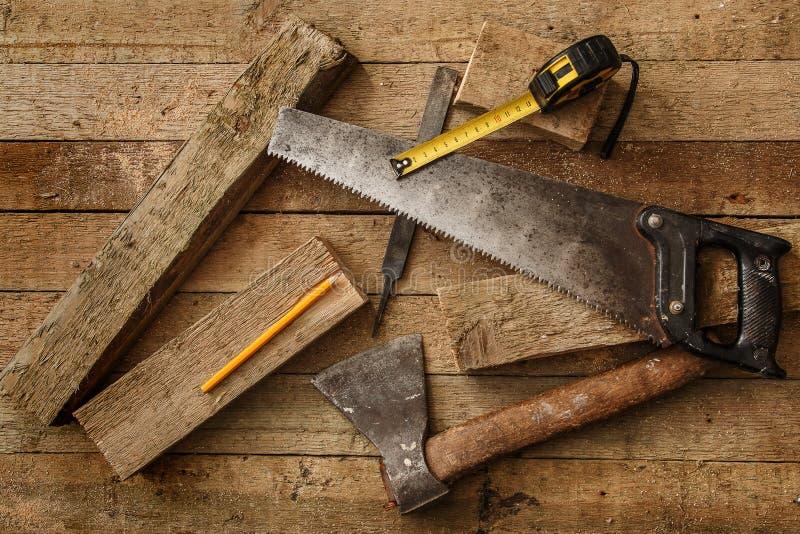 木匠业工具 免版税库存照片