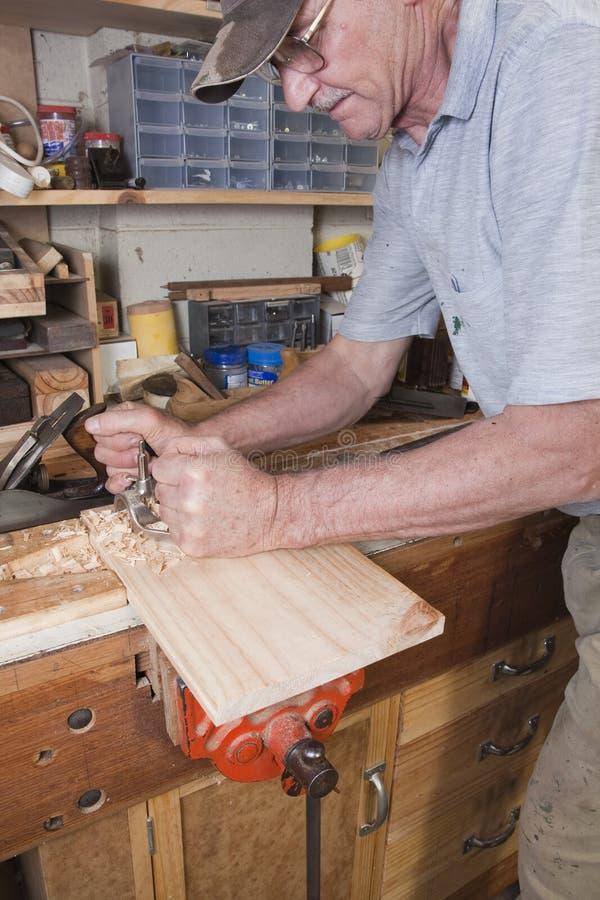 木匠业平面运输路线 库存图片