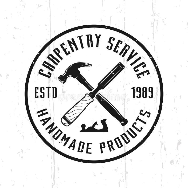 木匠业服务和木制品传染媒介象征 向量例证
