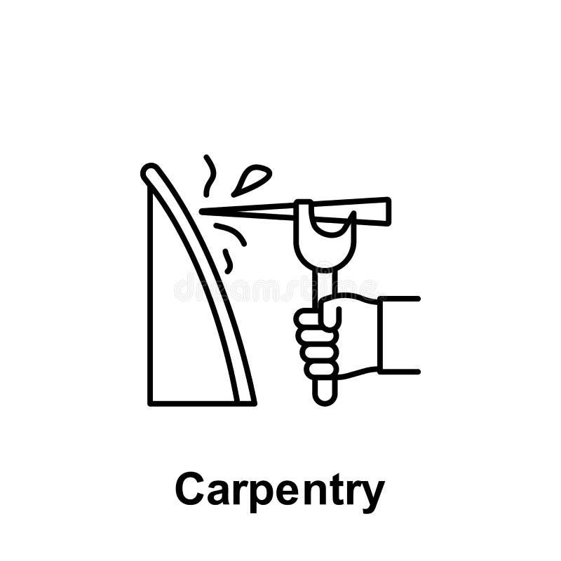 木匠业概述象 劳动节例证象的元素 标志和标志可以为网,商标,流动应用程序,UI,UX使用 皇族释放例证