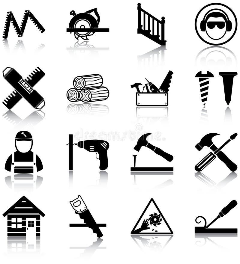 木匠业 向量例证