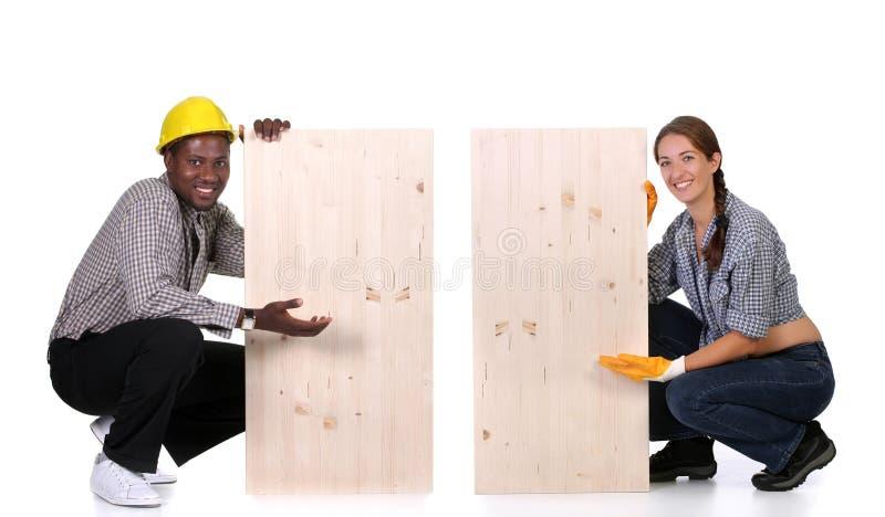 木匠妇女 免版税库存照片