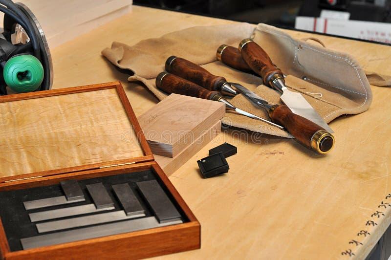 木匠工具 免版税库存图片