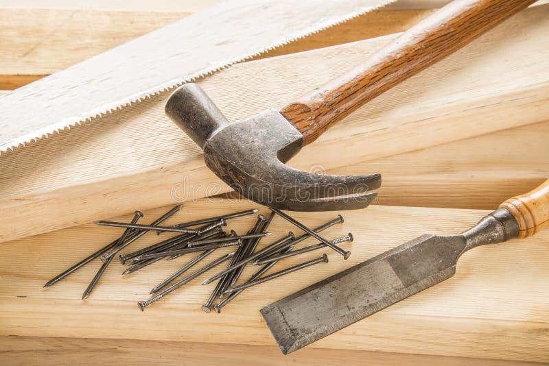 木匠工具 免版税图库摄影