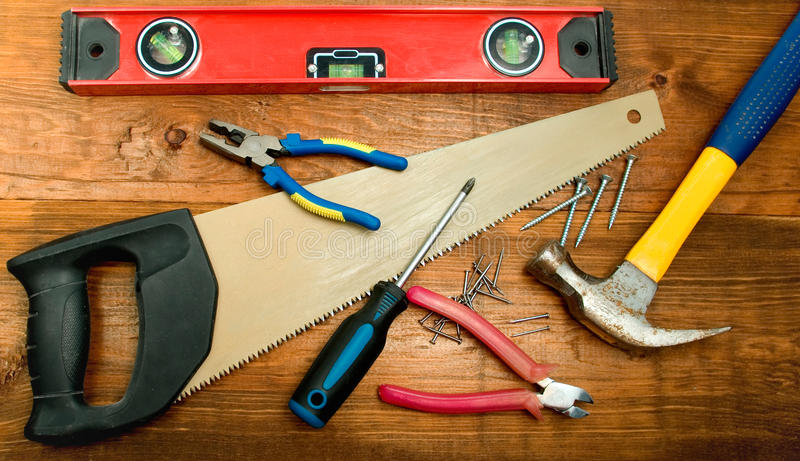 木匠s工具套件 库存图片
