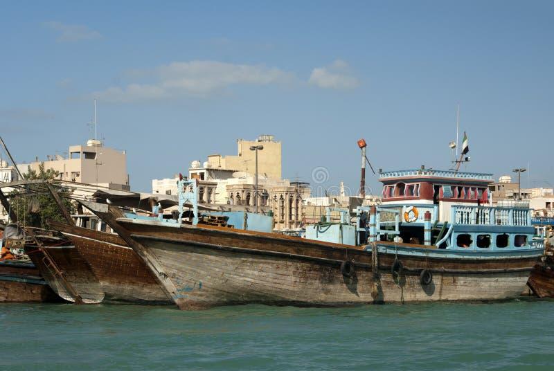 木单桅三角帆船的商船 库存图片