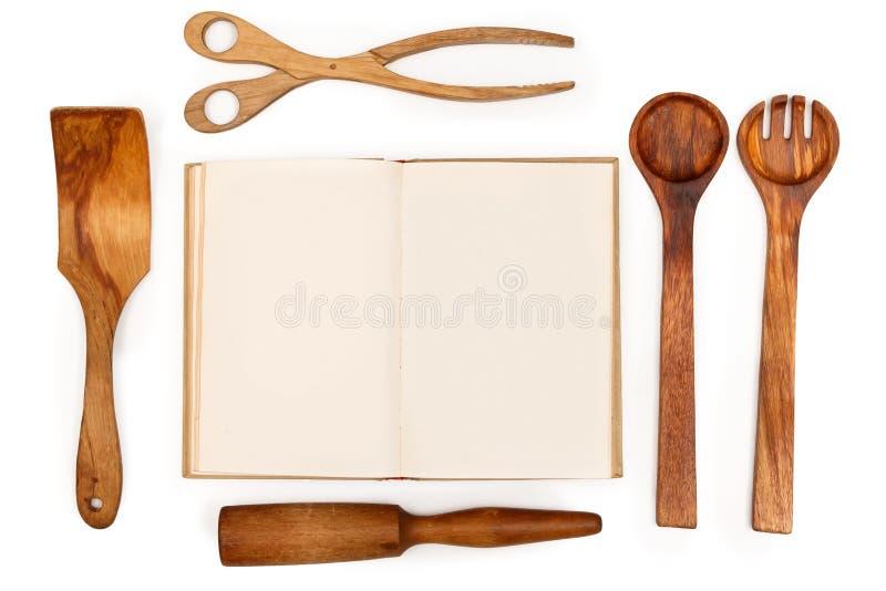 木厨房器物 库存照片