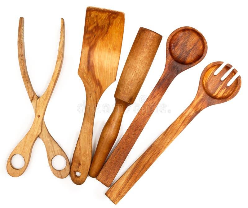 木厨房器物 库存图片